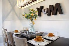 Love the mismatched letters and the touch of whimsy they add to this space without being too cute.