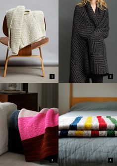 I love easy knitting patterns.  And I love making blankets.  It makes all the NCIS I watch seem so much more acceptable.    great garter-stitch blanket patterns // by jo sharp and @Purl bee jo sharp, knitting patterns, graphic garterstitch, blanket patterns, graphics, garter stitch, blankets, garterstitch blanket, purl bee