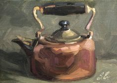 I'm a Little Teapot original still life painting  by SuzieBakerArt