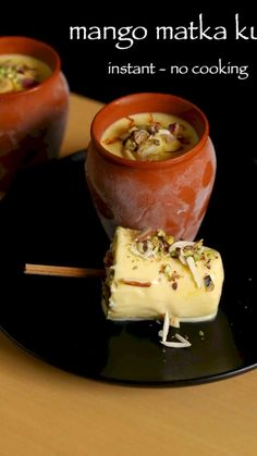 mango kulfi recipe, easy no cook mango kulfi recipe with milkmaid with step by step photo/video. instant indian dessert matka kulfi recipe loved by kids. Mango Desserts, Köstliche Desserts, Kulfi Recipe Easy, Chaat Recipe, Kulfi Recipe Video, Sweet Recipes, Snack Recipes, Cooking Recipes, Snacks