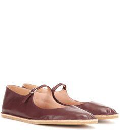 DRIES VAN NOTEN Leather Ballerinas. #driesvannoten #shoes #flats