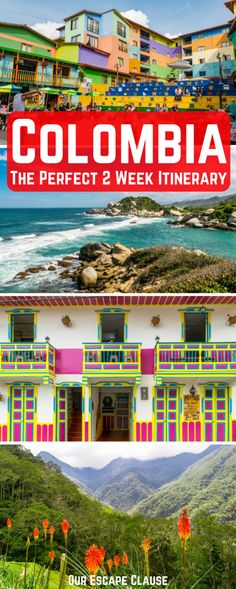 Planning 2 weeks in Colombia? This 14 day itinerary will take you to all the country's best highlights, from colorful Cartagena and the Caribbean Coast all the way to the stunning Cocora Valley near Salento, with some incredible stops in between #colombia #travel #travelitinerary #cartagena #salento #guatape #medellin #tayrona