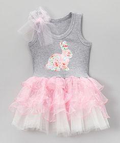 Look what I found on #zulily! Pink Bunny Ruffle Tutu Dress - Toddler & Girls #zulilyfinds