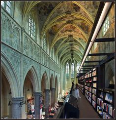 Dutch bookstore Selexyz Dominicanen, housed in a seven hundred-year-old former Dominican church