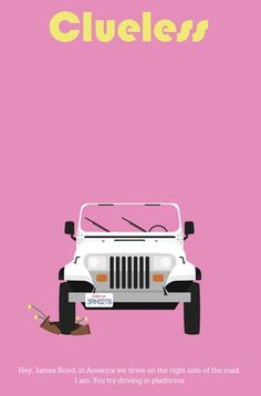 Clueless ~ Minimal Movie Poster by Jarrod Joachim Minimal Movie Posters, Film Posters, Love Movie, Movie Tv, 80s Movies, Mean Girls, Clueless 1995, Chick Flicks, Alternative Movie Posters