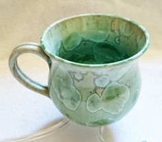 Rare Crystalline Cup by DAVID WILLIAMS Celadon by PenelainAntiques