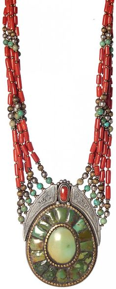 Museum-Quality Coral and Turquoise from Afghanistan