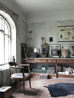 Downstairs office space idea