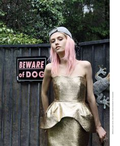 The No. Magazine Issue 15 Editorial Stars a No Fuss Charlotte Free #hair #coloredhair trendhunter.com