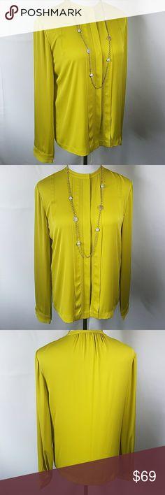"Diane Von Furstenberg blouse Beautiful button down, longsleeve blouse in excellent condition!! Measurements are approximate 21"" armpit to armpit 18"" shoulder to shoulder. Diane Von Furstenberg Tops Blouses"