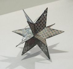 star, ornament, christmas - should be easy enough, so long as I cut each piece the same.