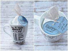 {DIY} Brownies in a cup - Geschenkidee - Bananenmarmelade   Nähen - DIY - RezepteBananenmarmelade   Nähen – DIY – Rezepte