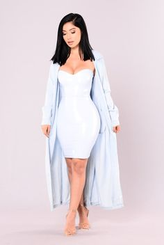Winifred Tube Dress - Blue
