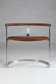 Armchair designed by Preben Fabricius & Jörgen Kastholm for Bo-Ex, Denmark. 1960's.