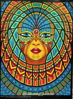 Colouring Pics, Adult Coloring Pages, Coloring Books, Psychedelic Art, Tribal Art, Fractal Art, Face Art, Unique Art, Illustration Art