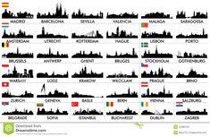 De Europese Landen Van De Stadshorizon - Downloaden van meer dan 60 Miljoen hoge kwaliteit stock foto's, Beelden, Vectoren. Schrijf vandaag GRATIS in. Afbeelding: 42996163