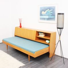 1960s Elm Wood Daybed with Storage Space (idea for study revamp)