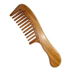 Wide Tooth Comb,New Star Anti-Static Wooden comb Wavy Handle Green Sandalwood Comb * This is an Amazon Affiliate link. Be sure to check out this awesome product.
