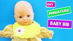 DIY miniature Baby Bib - easy doll crafts - simplekidscrafts
