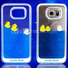 Funny Design Fluid Liquid Flowing Yellow Duck Crystal Clear Plastic Hard Case Cover for Samsung Galaxy S6 - USD $8.99