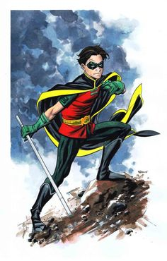 The role eventually passed to Damian Wayne, the ten-year-old son of Bruce Wayne & Talia al Ghul. Damian's tenure as du jour Robin ended when the character was killed