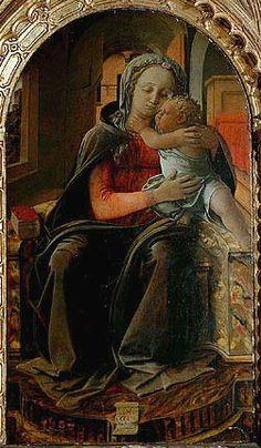 FILIPPO LIPPI (Fra) - Madonna con Bambino (Madonna Tarquinia) - 1437 - tempera su tavola - Galleria Nazionale d'Arte Antica in Palazzo Corsini, Roma