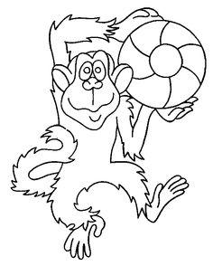 Monkey Colour Drawing HD Wallpaper