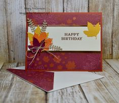Twenty Two Stampin' Up! Projects by Inkin' Krew Featured Stampers – Stamp With Amy K Business Facebook Page, Twenty Two, Pretty Cards, Stamping Up, Cool Cards, Facebook Sign Up, Fall Halloween, Autumn Leaves, A Team