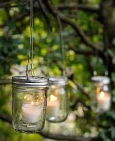 Wedding Mason Jar- great way to light up the trees in your beautiful outdoor wedding or for your backyard❤