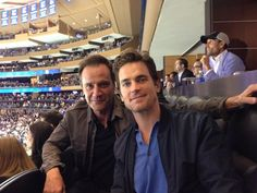 Matt Bomer  Tim DeKay at the 2014 NHL Stanley Cup Final at Madison Square Garden on Wednesday (June 11)