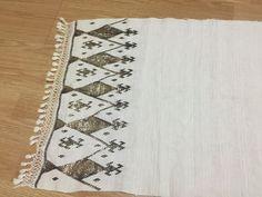 ottoman embroiderysilver metallic towel geometric motif 3*****