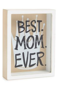 The best Mother's Day gift for the best mom ever. She'll love this cute shadowbox from Nordstrom. Perfect for displaying jewelry, photos, trinkets and keepsakes.