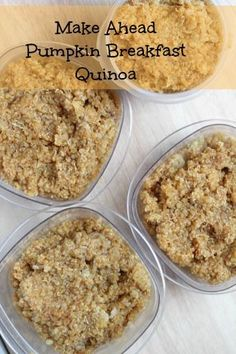 Make Ahead Pumpkin Breakfast Quinoa | 5DollarDinners.com #glutenfree