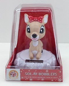 Clarice Solar Bobbler, Rudolph the Red-nosed Reindeer My Head Moves Whenever There is Light 50 Years and Still Glowing Collection Solar Bobblers Natural or Artificial Light Make Clarice Bob Her Head Bobble-Head Rudolph Red Nosed Reindeer, Rudolph The Red, Solar Powered Toys, Jelly Beans, Bobble Head, Home Goods, Lunch Box, Glow, Plush