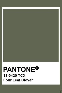 Pantone Four Leaf Clover Pantone Verde, Paleta Pantone, Pantone Tcx, Pantone Swatches, Color Swatches, Colour Pallette, Colour Schemes, Color Patterns, Pantone Colour Palettes