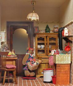 Le migliori 29 immagini su dollhouse kitchen | Case delle