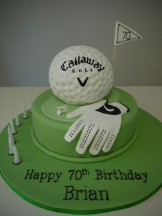golf cakes | Adult Birthdays / Themed- change to Titleist