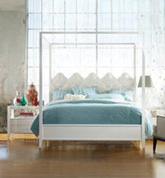 Quatrefoil 3 Pc Queen Poster Bedroom Set from Hooker Furniture at Toms-Price Furniture Furniture, Living Room Furnishings, Canopy Design, Home, Bedroom Posters, Bedroom Set, Bed, Canopy Bedroom, Upholstered Beds