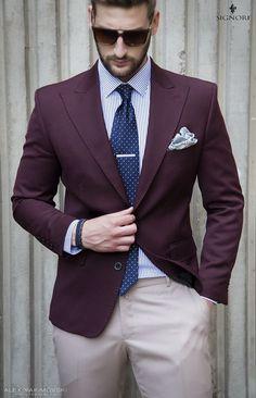 Men's style inspiration - Suits - Neckties - Pocket Squares