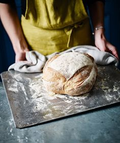 My oven is a bit weak for this. White Sourdough Loaf - Baking the perfect crusty sourdough loaf can be a challenge, but the end product makes it worth the effort. Use our recipe to make your own starter and pre-ferment before using it to make your bread. Sourdough Recipes, Loaf Recipes, Pastry Recipes, Sourdough Bread, Baking Recipes, Starter Recipes, Savoury Recipes, Savoury Baking, Bread Baking