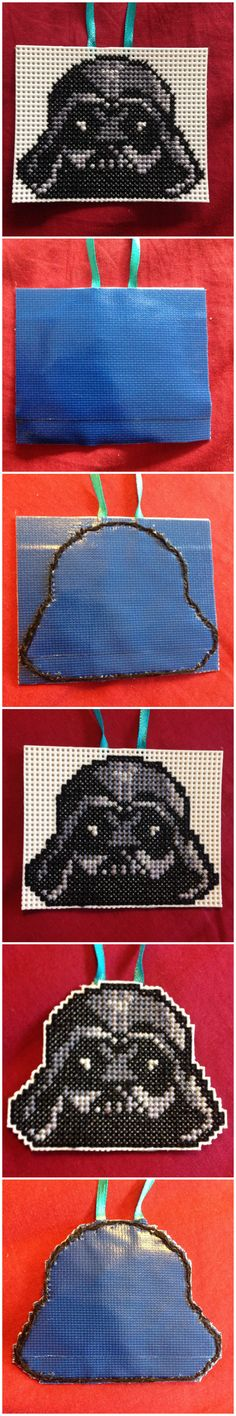 How to cross stitch on plastic canvas #starwars