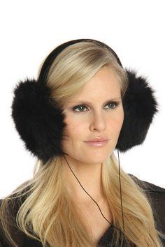 La Florentina Fox fur earmuffs with headphones - Beyond the Rack