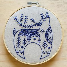 Hygge Reindeer Hand Embroidery Kit - Default Title