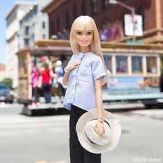 Catching this cable car for a cruise around the city! 🚋 #barbie #barbiestyle