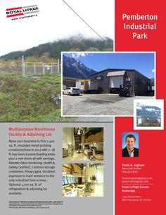 Pemberton Industrial Park Industrial Park, Metal Buildings, Warehouse, Remote, Real Estate, Construction, Health, Building, Health Care