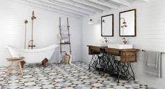 Znalezione obrazy dla zapytania łazienka kafle hiszpańskie