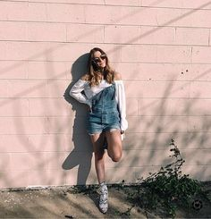 Free people overalls with white off the shoulder. Festival style. Coachella outfit inspiration.  http://liketk.it/2qTDH #liketkit @liketoknow.it #LTKUnder100 #freepeople #fpme