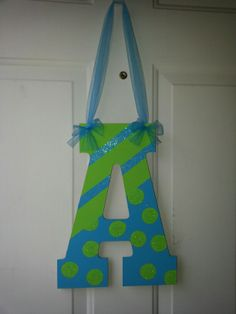 Painted Diy wooden letter