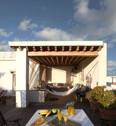 Posada La Sacristía, Tarifa, Spain (www.lasacristia.net) Property Design, Andalucia, Summer 2015, Hammock, Portugal, Pergola, To Go, Africa, Exterior