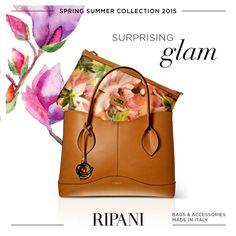 Spring Summer Collection 2015 - model MAGNOLIA  #feedyourstyle #ripanibags #fashion #bags #borse #fashionable #handbagsbags #pochette